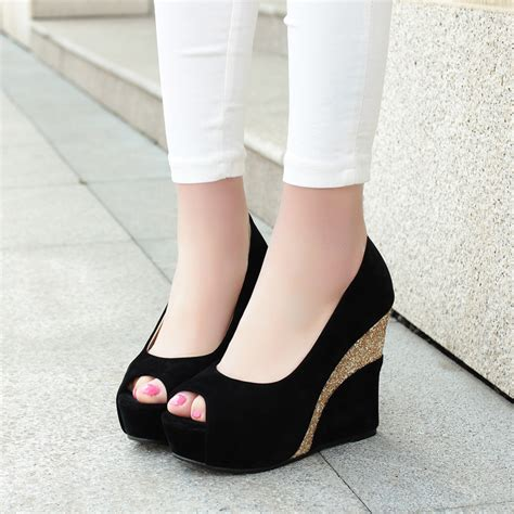 comfortable peep toe wedges compare prices on sexy platform shoes online shopping buy