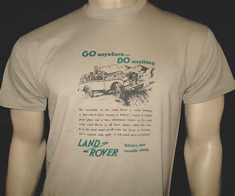 Tshirt Landrover Mocca S M Xl land rover go anywhere do anything advert t shirt in