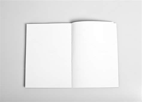 Open Book Template For Card by Open Magazine With Blank Pages Business Photos On