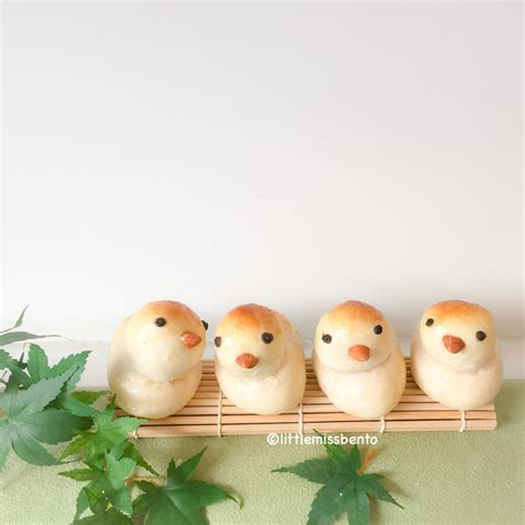 bird bread and rice egg cups little miss bento