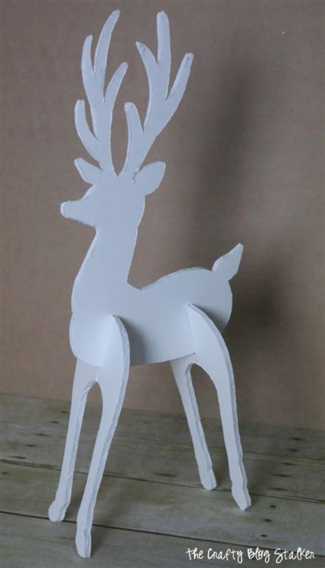 How To Make A Deer Out Of Paper - how to make a 3d reindeer decoration