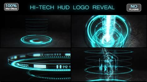 after effects templates free hi tech hi tech hud logo reveal after effects template