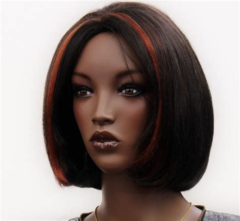 short african american hair with highlight caramel and honey highlights dark brown afro american hair