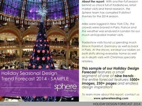 holiday 2014 design forecast sle