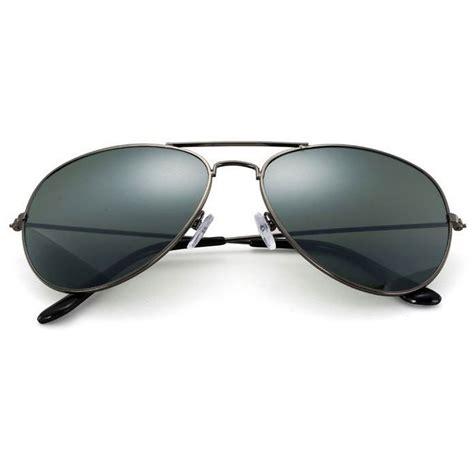 Kacamata Mirror kacamata aviator pria mirror gray black