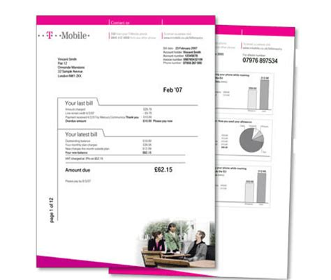 mobile bill template t mobile plans to conserve paper by slapping a 1 50