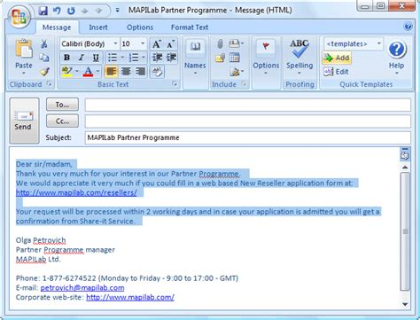 Quick Templates For Outlook Add In Helps You With Entering Frequently Repeated Text Fragments Microsoft Outlook Email Template