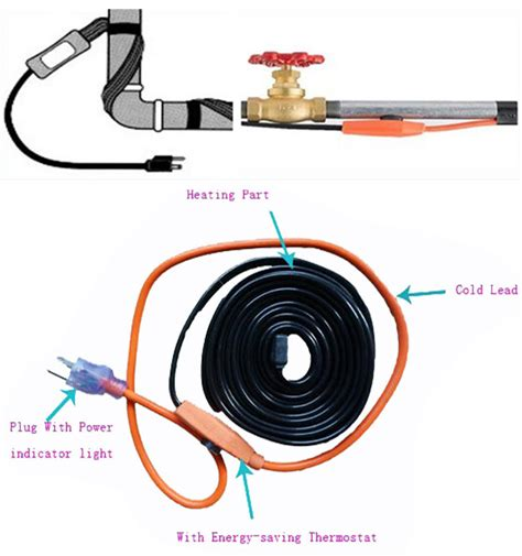 Kabel Heater groothandel waterleiding verwarming kabel elektrische heat