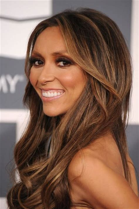 why did guilliana rancic color her hair caramel highlights are perfect with dark brown hair hair