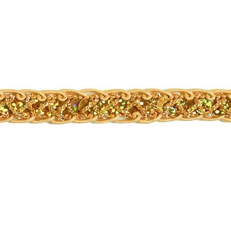 gold pattern trim sequin trim discount designer fabric fabric com