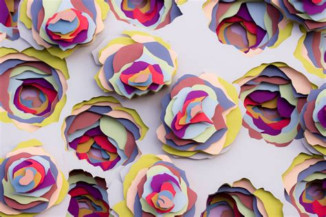 pattern paper art transfixing 3d paper patterns by maud vantours colossal