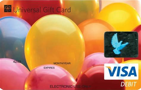 Are Visa Gift Cards Accepted Everywhere - universal visa gift card birthday balloons