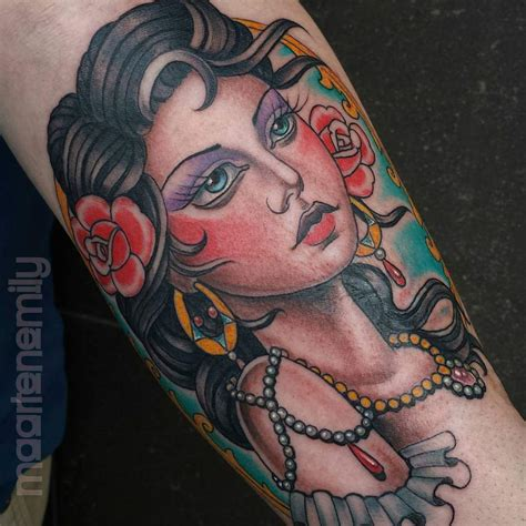 tattoo girl traditional neo traditional tattooing inkredible ink tattoo
