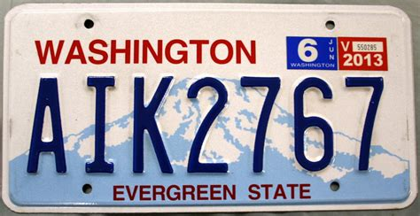 Vanity Plates Washington by 2013 Washington License Plate Aik2767