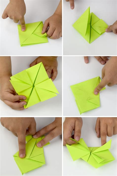 How To Fold Paper Frog - origami and kinetic energy