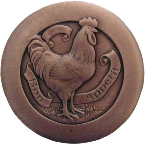 Chicken Cabinet Knobs by In The Kitchen Collection 1 7 16 Diameter Rooster