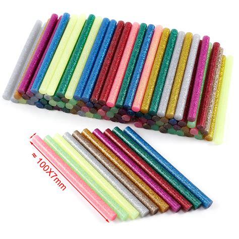 colored glue sticks 100x 7 2 mm mini glue sticks melt gun general purpose