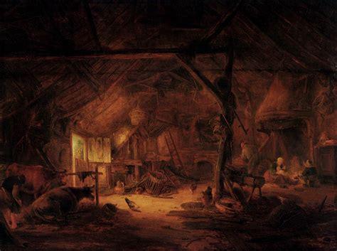 scheune innen barn interior 1645 isaac ostade wikiart org