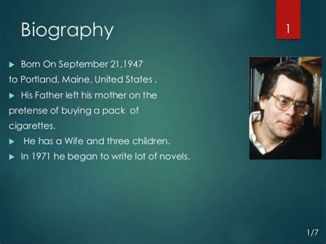 biography and autobiography ppt stephen king biography presentation 2015 by an ariyan