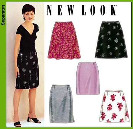 pattern review new look 6148 new look 6843 misses skirts
