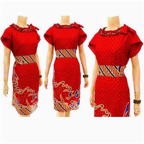 92 Kain Batik Alusan Kode Uj41 batik bagoes dress batik wanita modern kode