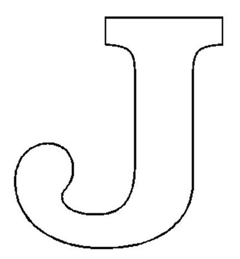 letter j template alphabet numbers block patterns