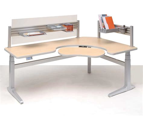 Desk With Adjustable Height Plans Benefits Work Desk For