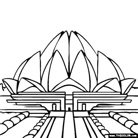 coloring pages of india gate famous places and landmarks coloring pages page 1