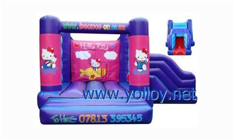 yolloy pink  kitty bounce house    kids