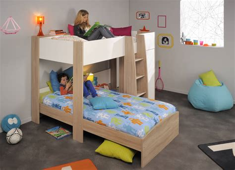 parisot bunk bed l shaped bunk beds parisot magellan the home and office stores