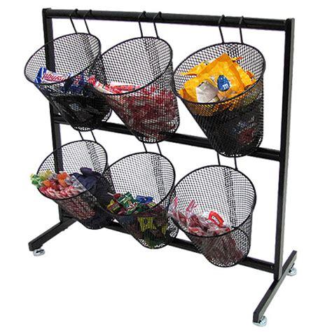 basket display rack black mesh basket display counter display rack
