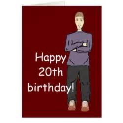 happy 20th birthday cards zazzle
