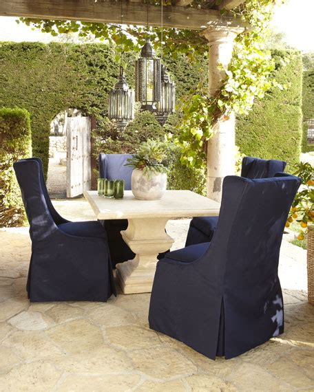 alexandra outdoor urn pedestal table upholstered chair