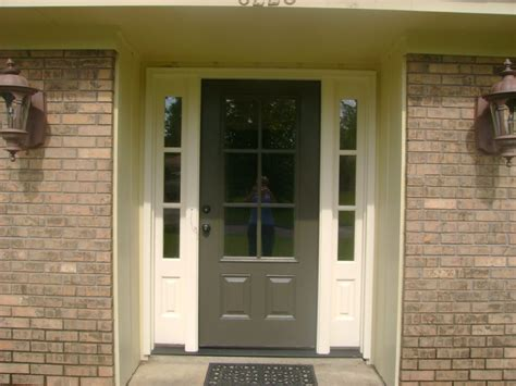 Front Door Colors For Brick House Blue Front Door Color For Brick House Mixed With Wreath Homes Showcase