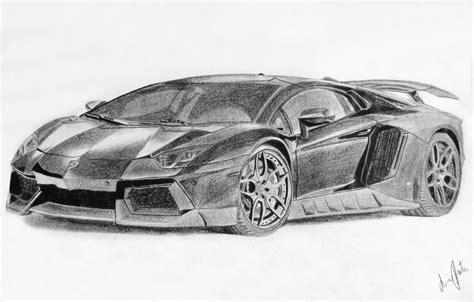 Lamborghini Drawing Lamborghini Aventador Black And White Drawing