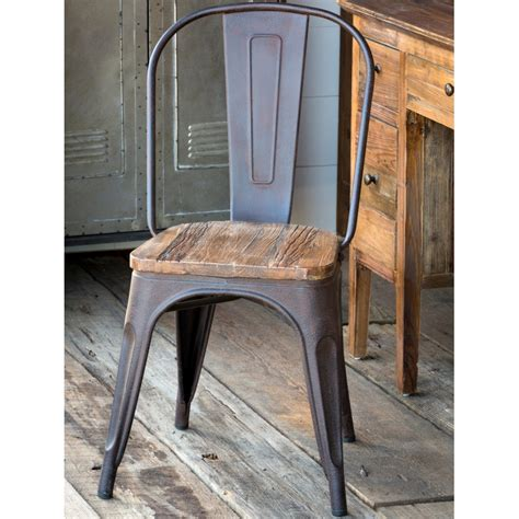 Chairin Top elm topped metal chair a cottage in the city
