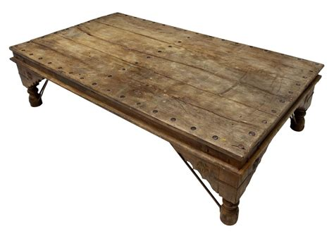 large rustic iron accented coffee table italian antiques