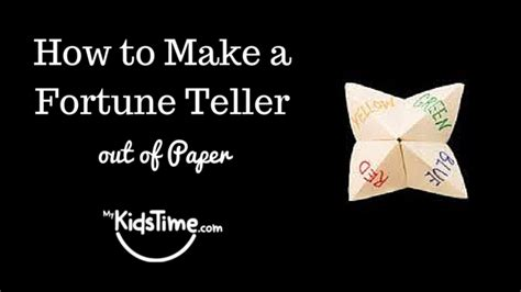 How Do You Make Stuff Out Of Paper - how to make a fortune teller out of paper