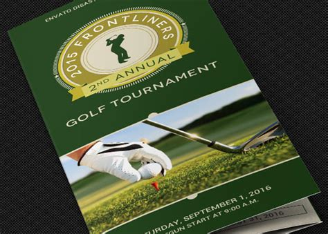 golf tournament program template charity golf tournament brochure template godserv market