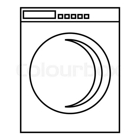 Washing Line Outline by Washing Machine Icon Outline Illustration Of Washing Machine Vector Icon For Web Stock Vector