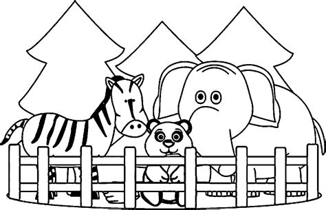 zoo picture coloring page zoo coloring pages printable coloring4free coloring4free com