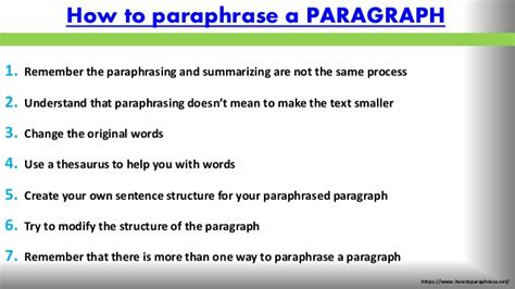 how to a show top tips on how to paraphrase
