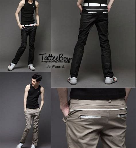 tattee boy clothes mens khaki skinny pants  images