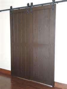 porte de grange sur rail atelier meuble rustique