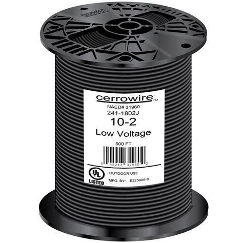cerrowire 500 ft 10 2 black stranded landscape lighting wire 241 1802j the home depot