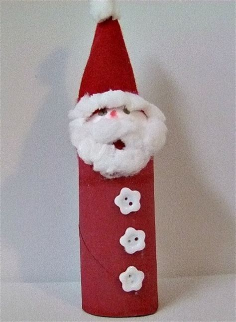 santa toilet paper roll craft toilet paper roll santa winter ideas and food