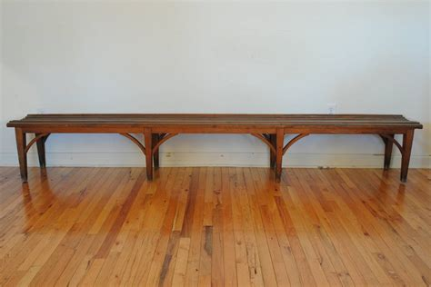 long wood bench long french painted wood bench mid to late 19th century