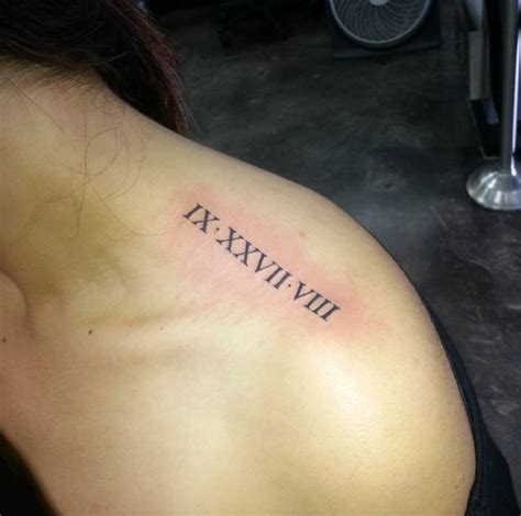 roman numbers tattoo back 36 exquisite roman numeral tattoo designs tattooblend