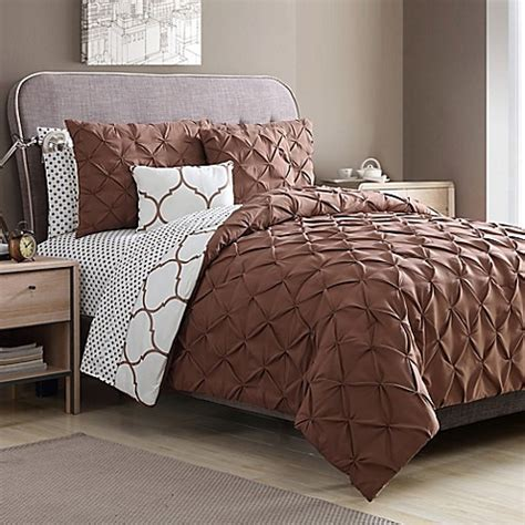 copper comforter vcny home ogee 9 piece comforter set in copper bed bath