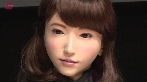 japanese android japan erica android talking robot